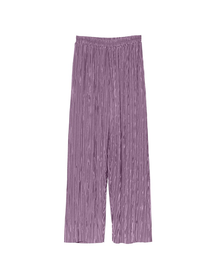 [低身長向け/高身長向けサイズ対応]裏地付きグロッシーワイドプリーツパンツ